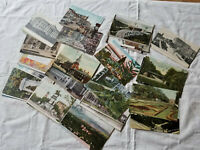 LOT OF 50 ANTIQUE 1910'S U.S. CITIES TOWNS MIXED LOT POSTCARDS