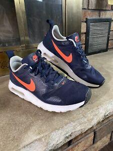 Womens Nike AIR MAX TAVAS Gym Shoes Sneakers Blue Orange 916791-400 SIZE 8.5