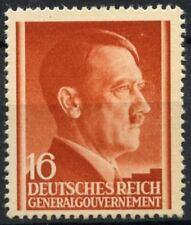 Poland German Occupation 1941-44 Sg#428 16g Red-Orange Adolf Hitler Mnh #D81611