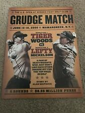 "2006 U.S. OPEN GOLF Poster Print Ad TIGER WOODS vs PHIL MICKELSON ""GRUDGE MATCH"""