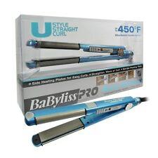 "Babyliss BABNT2071 Nano Titanium 1"" Plate Width U style Straight Curl Iron Blue"
