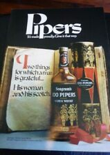 1971 Seagram's 100 Pipers Scotch Ad - It's Made Proudly MAN CAVE ART