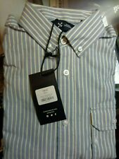 FIVE FOUR SAWYER Men Dress Shirt Sz Small Blue/White Stripes New With Tags