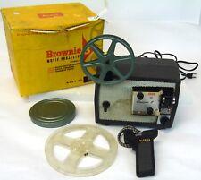 Vintage Reel Kodak Model 10 Brownie 8 Film Movie Projector w/ Reels Handle