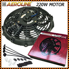 "12"" Aeroline® Electric Radiator Intercooler 12v Slimline Cooling Fan 220w Motor"