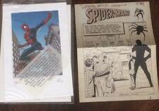 Amazing Fantasy 15 Spiderman Lithograph & Original Ditko Art Reproduction