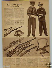 1942 PAPER AD Toy Tommy Gun Commando Drill Rifle Pop Pump Action Sam Browne