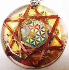 Flower of Life POE Coil Peace Inducer Double Hexagram Vortex Pranic Device