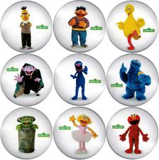 88012 Sesame Street PBS Big Bird Oscar Elmo Button Lapel Pin Badge Pack SET OF 9