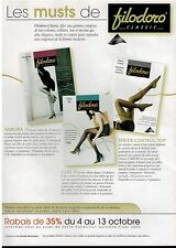 2000 FILODORO  Hosiery , Tight :  French Magazine Print  AD