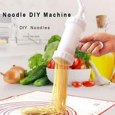 1 Set Pasta Noodle Maker Machine Cutter For Fresh Spaghetti With 7 Moulds New