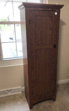 Tall Pantry Storage Cabinet Free Standing Multipurpose Display Bookcase Accent