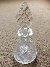 Vintage / Retro Cut Glass Perfume bottle and stopper. 1950's style