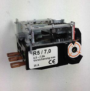 Motorschutzrelais / Motorschütz R5/10,3  für Condor Druckschalter 5/11 oder /16