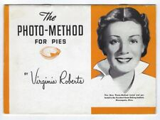 Occident Flour Home Baking Institute PHOTO-METHOD FOR PIES Vintage Recipe Book