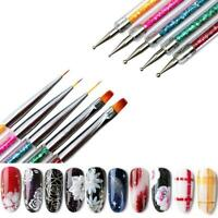 5PCS Nail Art Brushes -Double-Ended Brush Dotting Tool Elegant Nail Pen 2021