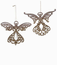 Katherine's Collection Angels Gold Scroll Angel Ornament Set of 2