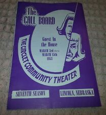 1953 Play Program for GUEST IN THE HOUSE in Lincoln Nebraska