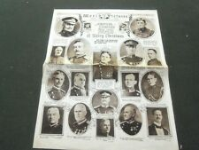 1918 DECEMBER 22 NY WORLD PICTURES NEWSPAPER SECTION AMERICAN GENERALS - NP 1605