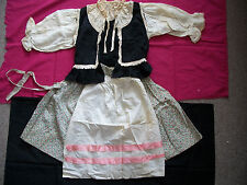ANTIQUE GERMAN OR DUTCH NATIONAL ETHNIC FOLK COSTUME WITH APRON VICTORIAN DRESS