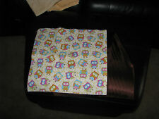"""PERSONALISED BABIES  TAG BLANKETS """"OWL PRINT FOR GIRLS"""""""