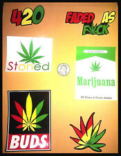420 Rasta Vinyl Decal Stickers Pack Lot of 6 (4206PacK)