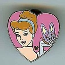 Princess Cinderella Heart+Butterfly Hidden Mickey Cast Lanyard Pin