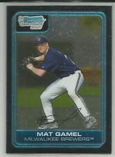 Mat Gamel Milwaukee 2006 Bowman Chrome Prospect Card