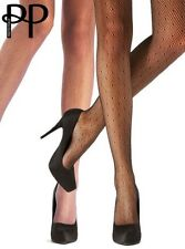 PRETTY POLLY VARIOUS BLACK/NUDE SUPPORT/LACY/NET TIGHTS HOLDUP STOCKING S M L XL