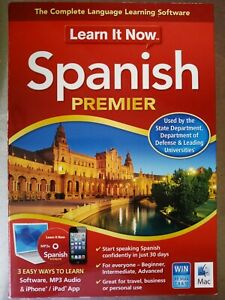 Spanish Premier - Learn It Now Software Windows or Mac