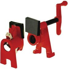 H-Style Pipe Clamp Fixture Set For 3/4 In. Black Pipe Bar Woodworking Clamping