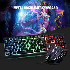 Gaming Tastatur K13 Keyboard Maus Set RGB LED USB Mechanisch für PC Laptop PS4