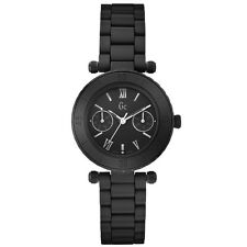 NEW GUESS COLLECTION GC DIVER CHIC LADY WATCH MATTE BLACK CERAMIC DATE X35004L2S