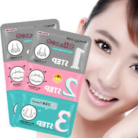 Pig-Nose Clear Black Head 3-Step Kit (x 3 sheets) Korean Cosmetic Health Skin