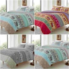 ELLY STYLE INDIAN ELEPHANT DUVET QUILT COVER SET+ PILLOW CASES- BEDDING SETS