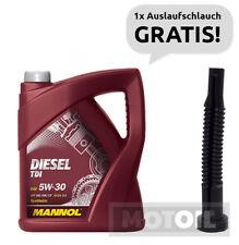 5W-30 Motoröl 5 Liter MANNOL Diesel TDI BMW,PORSCHE,VW,MB + Auslaufschlauch