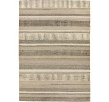 NEW John Lewis Mosserud Stripe Wool Blend Rug 180cm x 120cm - Grey