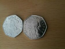 2 Rare Benjamin Bunny 50p coins circulated 2017.