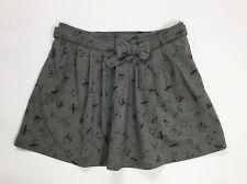 Gonna corta minigonna usato donna pieghe grigio size w30 tg 44 plissettata T4065