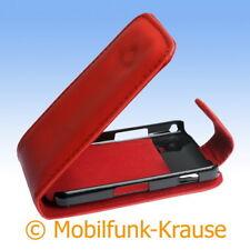 Flip Case Etui Handytasche Tasche Hülle f. Samsung GT-S5830i / S5830i (Rot)
