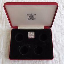 4 Medaglia Royal Nuovo di zecca rosso scatola di presentazione per una sterlina monete
