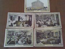 5 Lot 1910s Postcard Interior Hotel Muehlebach Cafe Trianon Kansas City Missouri