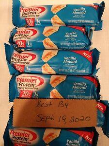 30-  Premier Protein Bar Vanilla Almond 20g Protein/1g Sugar 09/19/2020