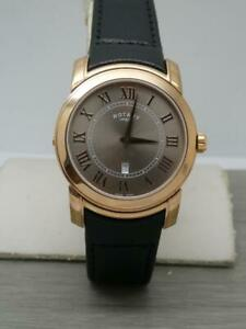 Men's Rose Gold Rotary Revelation Dual Face Reverso Reversible Gents Watch NOS