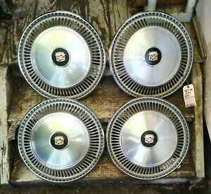 1967-78 Cadillac Eldorado Wheel Covers Hubcaps *GRADE A/A-*  Awesome Set of 4