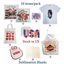 Heat Transfer Sublimation Blanks Sample Pack Pillow Case T Shirts Bag Mouse Pad