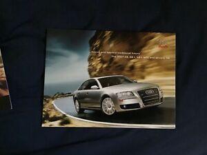 2007 Audi A8 S8 A12 USA 46 Page Color Brochure Catalog Prospekt