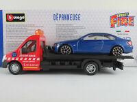 Bburago 18-31408 Iveco Daily Abschleppwagen mit BMW 335i Coupé 1:43 NEU/OVP