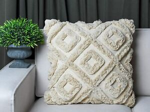 Shaggy Throw pillow.coverscSet of 2 cushion cover Woven Pillow cover