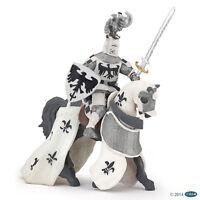 Ritter mit Adlerhelm und Pferd weiß Ritterwelt Papo 39785 + 39786